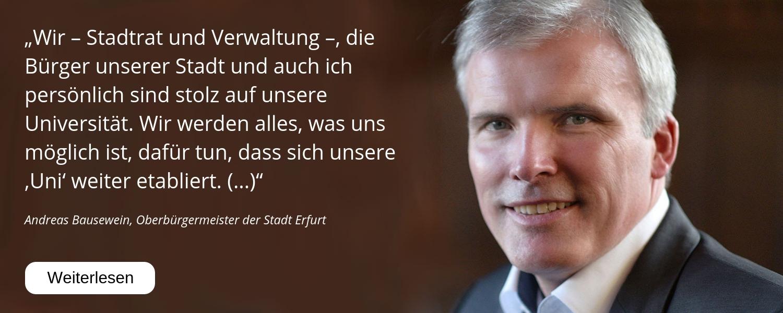 Andreas Bausewein, Uni Erfurt, 25 Jahre, Jubiläum, Glückwunsch