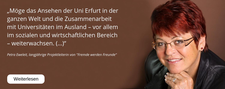Petra Eweleit, Fremde werden Freunde, 25 Jahre Uni Erfurt