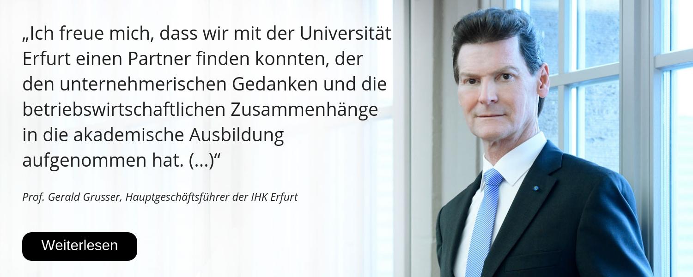 Gerald Grusser, IHK Erfurt, 25 Jahre Uni Erfurt