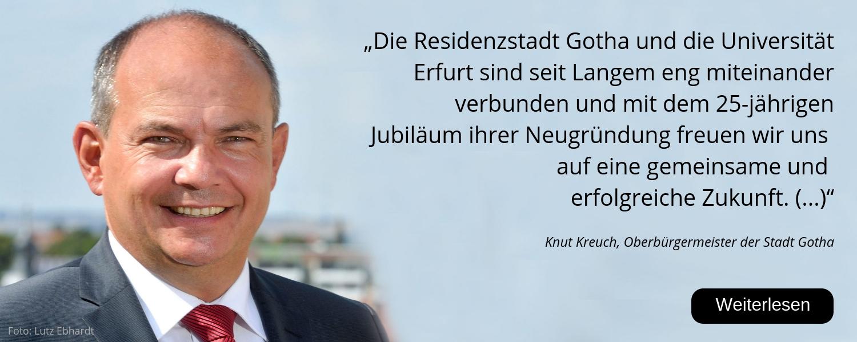 Knut Kreuch, 25 Jahre Uni Erfurt