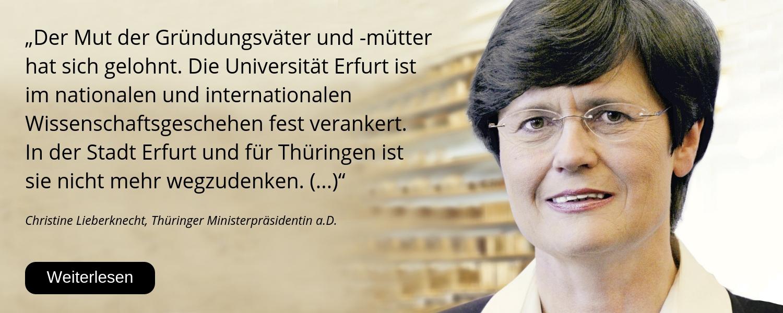 Christine Lieberknecht, 25 Jahre Uni Erfurt