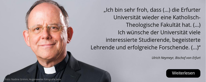 Bischof Ulrich Neymeyr, Bistum Erfurt, 25 Jahre Uni Erfurt