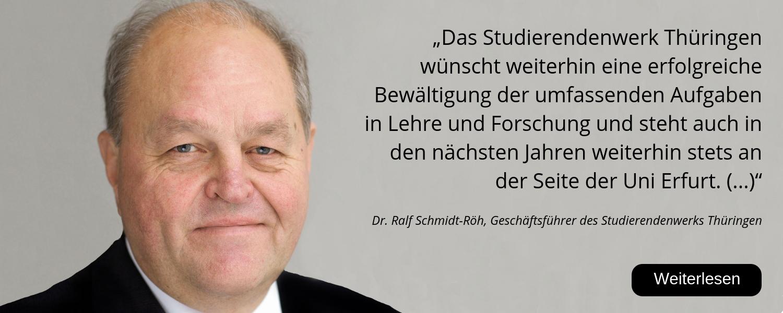 Dr. Ralf Schmidt-Röh, Stw Thüringen, Studierendenwerk, 25 Jahre Uni Erfurt
