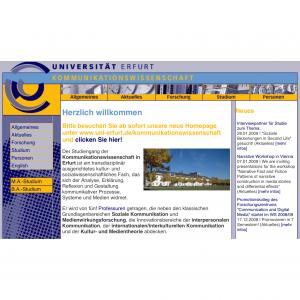 Fundstück, Kommunikationswissenschaft Uni Erfurt