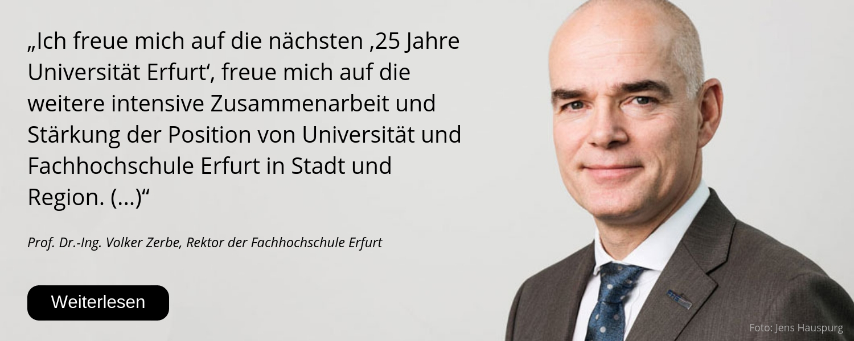 Volker Zerbe, Fh Erfurt, 25 Jahre Uni Erfurt