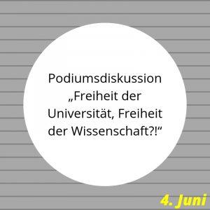 Podiumsdiskussion 25 Jahre Uni Erfurt