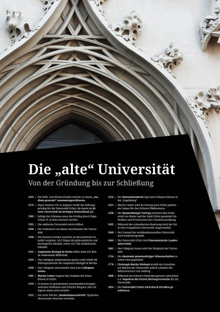Ausstellungsposter Alte Universität Erfurt