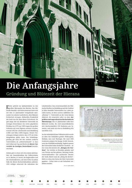 Austellungsposter Blütezeit Alte Uni Erfurt