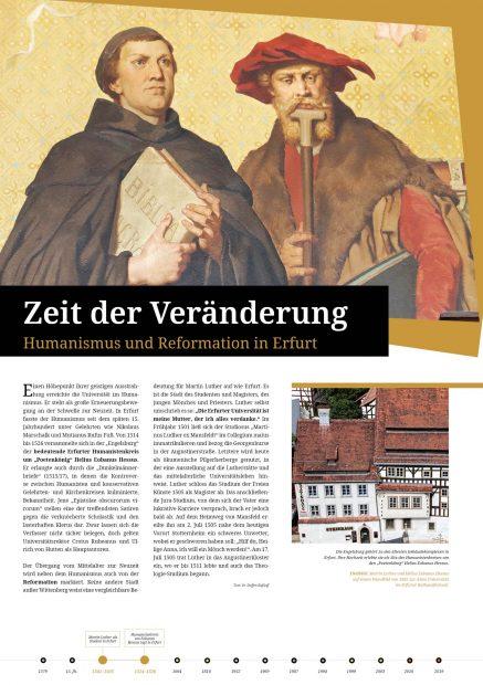 Ausstellungsposter Humanismus und Reformation Erfurt