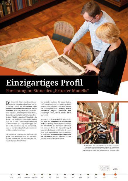 Austellungsposter Forschungsprofil Uni Erfurt