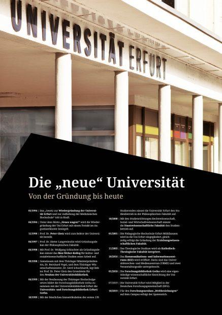Geschichte der Universität Erfurt, Posterausstellung